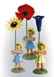 Blumenkinder, farbig