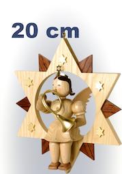 Engel im Stern, 20 cm