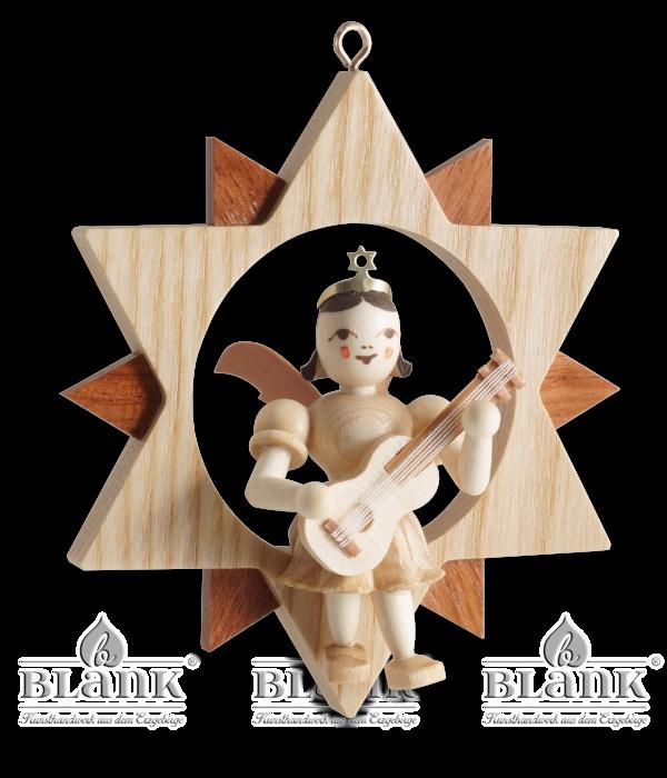 Engel im Stern mit Gitarre