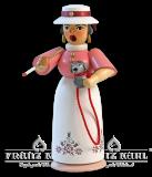 Rauchfrau ,,Lady mit Hund - 18 cm