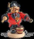Räuchermann Pirat-Pfeifenraucher, 19 cm