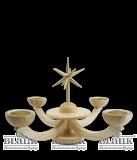 Adventsleuchter natur mit Teelichthalter ohne Engeln - Neuheit 2014