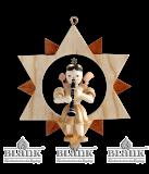 Engel im Stern mit Klarinette