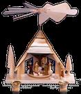 Pyramide Christi Geburt, gesandelt - Figuren bunt - 29 cm