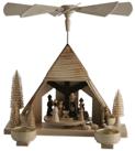 Pyramide Christi Geburt Teelichthalter - 29 cm