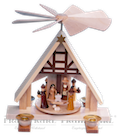 Pyramide Christi Geburt, natur - 23 cm