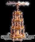 Pyramide 3 Etagen, Christi Geburt, natur - 56 cm