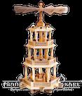 Pyramide 3 Etagen mit Barockzaun, Christi Geburt - 55 cm