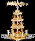 Pyramide 3 Etagen mit Barockzaun, elektrisch - 58 cm