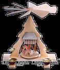 Pyramide mit Rehe, gesandelt - 22 cm