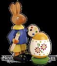 Osterhase mit Ei, 11 cm