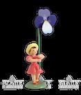 Blumenkind-Stiefmütterchen, farbig