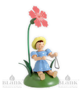 Blumenkind sitzend mit Nelke/Triangel