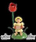 Blumenkind sitzend mit Tulpe/Harmonika