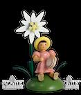 Blumenind sitz. mit Edelweiss / Tamburin - Neuheit 2010