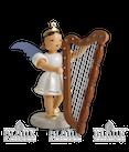 Engel mit Harfe veredelt mit SWAROVSKI ELEMENTS