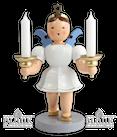 Engel 20 cm mit Kerzenhalter, farbig