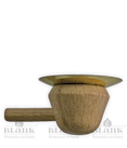 Kerzenhalter (Holz) mit Metalleinsatz für PK 005