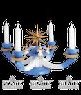 Adventsleuchter mit 4 sitzenden Engeln