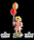 Mädchen mit Luftballon, farbig