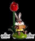 Osterhase sitz. mit Tulpe / Harmonika