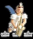 Saxophon-Schwebeengel, farbig