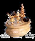 Spieldose oval mit 2 Musikantenengel